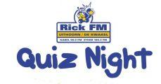 Kom 18 januari naar de gezellige Rick FM Quiz Night